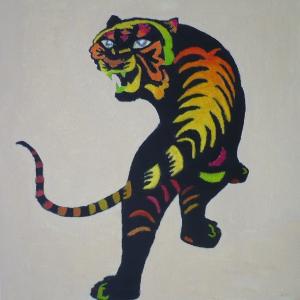 Anita Azier fleurige tijger